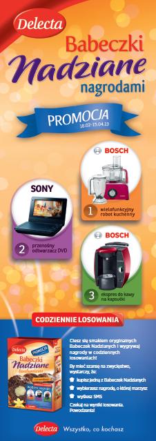 Reklama prasowa_kampania loteria babeczki Delecta_2013