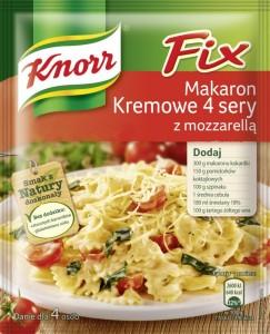 Fix Knorr Makaron Kremowe 4 sery z mozzarella