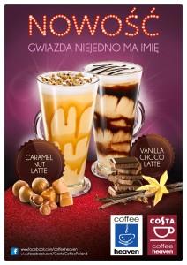 Carmel Nut Latte i Vanilla Choco Latte