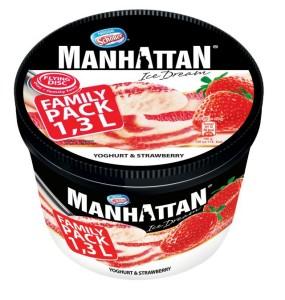 MANHATTAN jogurtowo truskawkowe