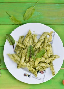 pasta with pesto sause