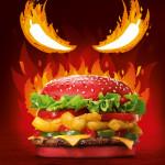 Wściekle ostry burger w czerwonej bułce od Burger King. Uwaga: rozgrzewa do czerwoności!