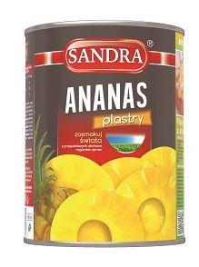 Sandra_ananas - plastry_puszka 580ml_4.99zł