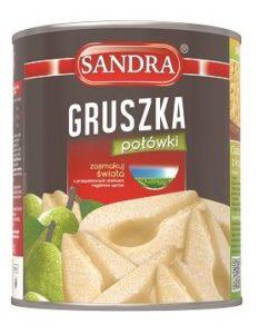 Sandra_gruszka połówki_puszka 850ml_5.90zł