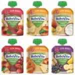 Musy owocowe BoboVita w przezroczystych, wygodnych opakowaniach – idealne na duże i małe podróże!