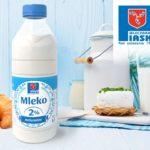 Mleko Naturalne 2 % Okręgowej Spółdzielni Mleczarskiej w Piaskach w nowej szacie graficznej