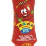 Pomidor zamknięty w butelce – ketchup Mikadek dla małych i dużych