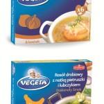 Nowe kostki bulionowe marki Vegeta. Kostka cebulowa i Rosół drobiowy z natką pietruszki i lubczykiem
