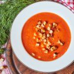 Radość z wiosny… na talerzu! Zupa krem z krewetkami i koprem